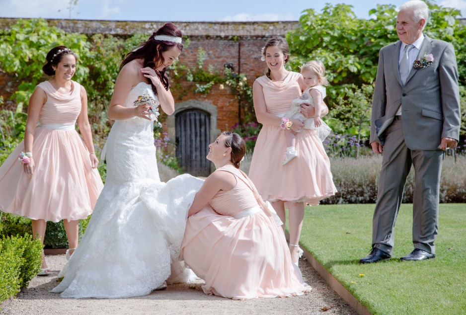 cowdray park walled garden wedding group-LARGE