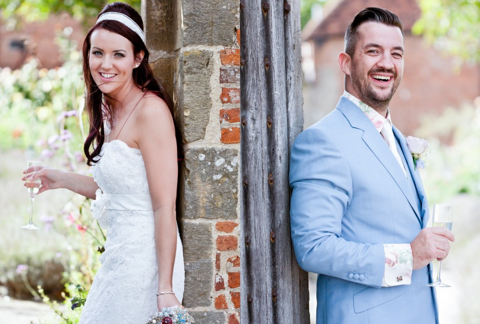 surrey walled garden wedding cowdray park photo bride groom-LARGE